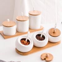 欧式创意家居客厅厨房装饰品 ins餐厅餐桌实用陶瓷调料盒个性摆件