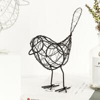 北欧风格创个性意家居装饰品摆件房间卧室客厅装饰小摆设铁艺小鸟