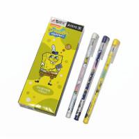 晨光海绵宝宝全针管中性笔 0.35mm学生办公水笔 A1515考试笔 12支