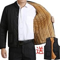 加绒加厚款棉服秋冬季男士外套棉衣中老年人爷爷爸爸中年男装棉袄