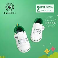 泰兰尼斯学步鞋男宝宝叫叫鞋1-3岁秋季女婴儿软底棉布鞋机能鞋