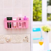 2个装厨房吸盘沥水篮置物篮洗碗布水槽置物架卫浴吸壁篮收纳挂篮 粉红色2个 收藏优先发货