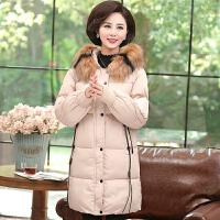 妈妈冬装棉衣外套加厚中长款40岁50中老年羽绒女时尚棉袄新款