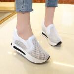 2018夏季新款单鞋女鞋子低帮鞋韩版学生网布休闲运动鞋透气跑步鞋 白色 35