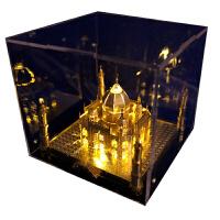 3D立体拼图金属模型手工天鹅堡建筑拼装玩具礼品 泰姬陵+黄灯 送:豪华礼包