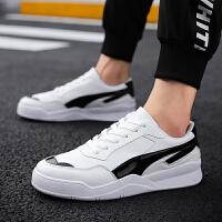 小白鞋2018新款男鞋子韩版潮流男士白色运动板鞋秋季学生百搭休闲