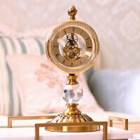 欧式钟表摆件客厅北欧家居摆设时钟摆钟桌面摆台式装饰品