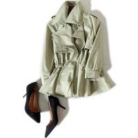 新年特惠新品上市 白色短外套 浪漫强势女人~减龄西装领短风衣薄料防晒衫 白色