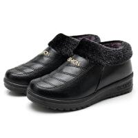 老北京布鞋冬季保暖女棉鞋防水加绒女短靴防滑加厚平底妈妈鞋棉靴