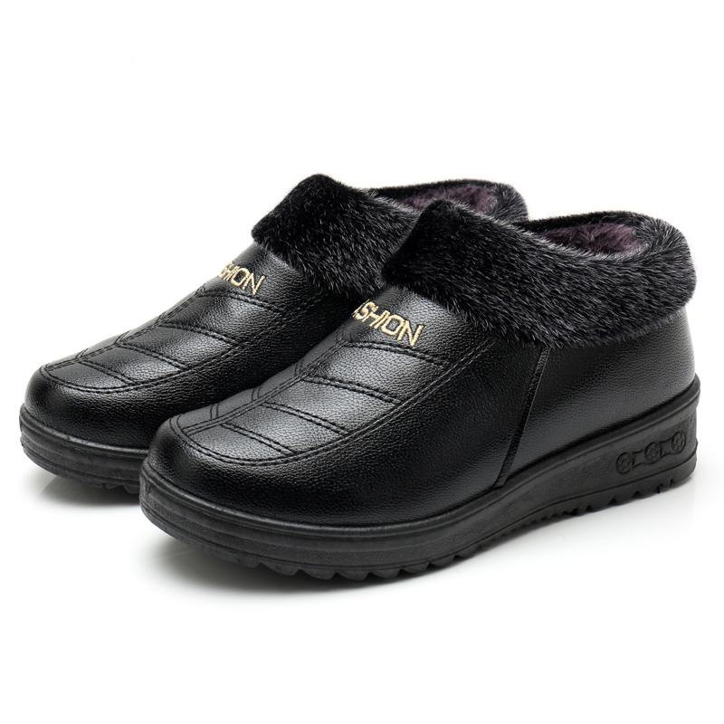 老北京布鞋冬季保暖女棉鞋防水加绒女短靴防滑加厚平底妈妈鞋棉靴   关注本店,七天无理由退换 更多特价商品点击进入