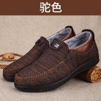 软底滑中老年爸爸鞋春季透气臭爷爷老人鞋老北京布鞋男休闲鞋