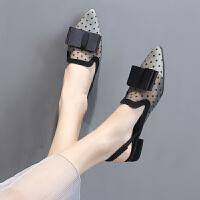 仙女鞋平底凉鞋夏季新款百搭时尚气质网红搭长裙子的鞋子