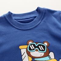 童装儿童长袖t恤春秋季 男童套头上衣 女童打底衫秋装T恤