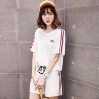 运动套装女夏2019新款韩版时尚宽松显瘦短袖短裤跑步服休闲两件套
