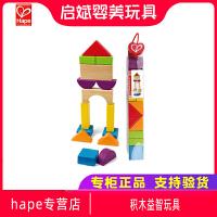 Hape建筑师 3岁以下积木益智玩具 木制宝宝早教智力 多彩多状
