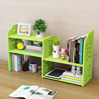 儿童桌面收纳置物架简约现代伸缩学生旋转小书架书架简易桌上书架