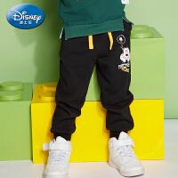 迪士尼童装男童裤子春秋装休闲裤儿童运动裤小童宝宝卡通长裤