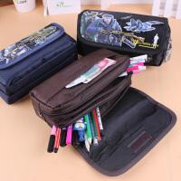 学生男生铅笔袋可爱笔袋男孩大容量文具盒铅笔盒