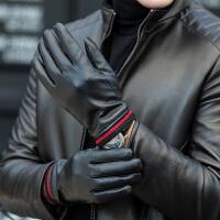 手套男士冬季骑行摩托车加绒加厚棉手套冬天保暖防寒风骑车皮手套
