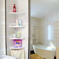 双庆 顶天立地伸缩卫浴室角架 置物架三角架厕所转角架