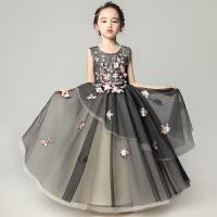 女童晚礼服公主裙蓬蓬纱黑色婚纱钢琴演出服