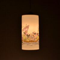 中式复古单头吊灯陶瓷个性餐厅灯过道吧台阳台茶楼灯具