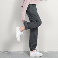 春季薄款运动裤女宽松收口休闲长裤大码束脚灯笼裤加绒加厚卫裤
