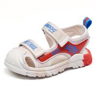 巴布豆bobdoghouse小童凉鞋2021新款夏季款男女童宝宝包头机能户外鞋子-卡其