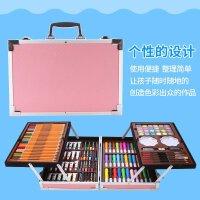 儿童画笔套装美术用品水彩笔蜡笔益智绘画工具玩具组合可水洗 200件铝盒粉