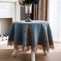 欧式餐桌桌布布艺家用圆形桌布圆桌布方形客厅茶几桌布