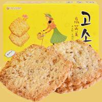 【包邮】韩国进口 好丽友高笑美饼干 芝麻薄脆咸味160g*2盒