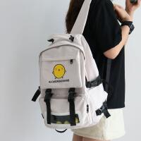 明星同款2021年新款书包女韩版原宿ulzzang高中学生大容量双肩包