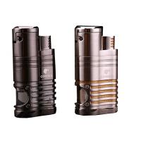 充气防风打火机 雪茄打火机创意金属电子直冲点烟器