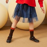 【1件4折后到手价:148元】马拉丁童装女童腰裙秋装2019新款超洋气蓬蓬纱半身裙儿童时尚腰裙