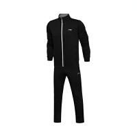 李宁运动套装男士训练系列开衫无帽卫衣套装长袖长裤运动服AWEL003