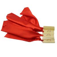 节板方巾 红绸竹节板 快板竹板 (一副4片) 舞蹈指板儿童快板