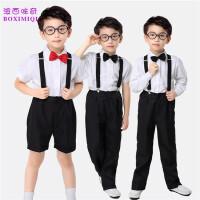 儿童背带裤花童礼服男孩小主持人服装钢琴演出服男童礼服套装