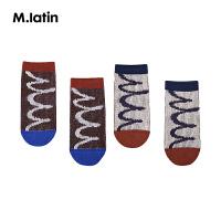 【秒杀价:54元】马拉丁童装男女童袜子秋冬时尚波点地板袜短袜儿童袜子两双装