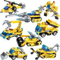 兼容乐高积木男孩子儿童益智拼装玩具工程车10幻影忍者拼插6-14岁 8合1锋影战车