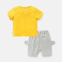 婴儿衣服短袖T恤短裤套装儿童夏季夏装幼儿女宝宝