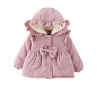 冬季童装女宝宝加厚棉衣外套 0一1-2-3岁小婴儿冬装加绒棉袄