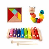 小孩子玩具�����胗�阂嬷窃缃棠泻�0-1-2-3周�q蒙�和�玩具女孩八音琴扭扭�x七巧板彩虹塔拖��@珠�Y物