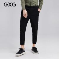 GXG男装 秋季男士时尚帅气黑色裤休闲裤男韩版潮流ulzzang裤子男
