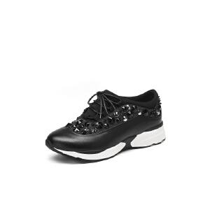 红蜻蜓旗下品牌COOLALA女鞋秋冬休闲鞋鞋子女HCB7082