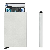 自动防消磁盒金属银行卡夹男女士名片IC卡盒子银行卡套包防磁保护nfc卡套锡纸屏蔽套防盗刷读取卡套