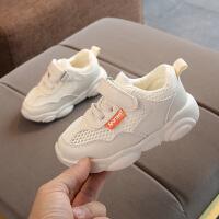 宝宝婴儿学步鞋软底1-3-5岁2男女童小熊老爹运动鞋春夏季款单网鞋