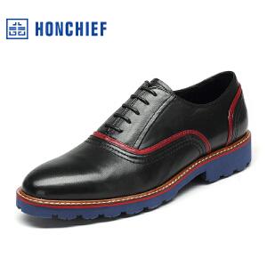 红蜻蜓旗下品牌  HONCHIEF 男鞋商务休闲皮鞋秋冬鞋子男KZA1255