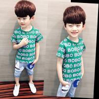 男童短袖T恤夏装儿童潮童装中大童半袖体恤男孩