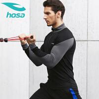 hosa浩沙男运动外套立领修身开衫骑行服室内训练健身秋冬新款夹克