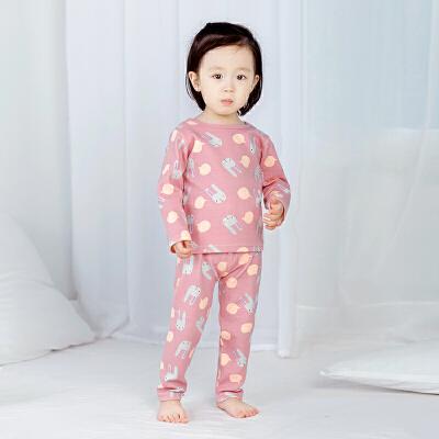 婴儿内衣套装保暖0男1岁秋季装3宝宝2睡衣服儿童春秋衣裤冬女